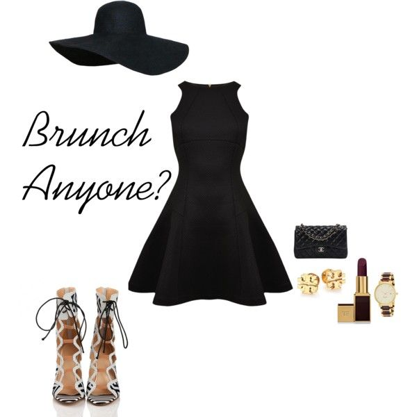 Brunch? by afamoustragedy on Polyvore featuring Ted Baker, Chanel, Kate Spade, Tory Burch and Tom Ford