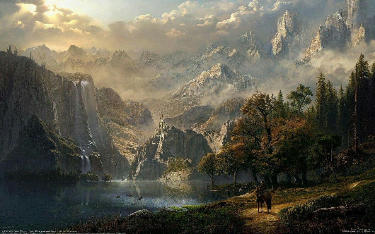 Albert Bierstadt Fantasy World Albert Bierstadt