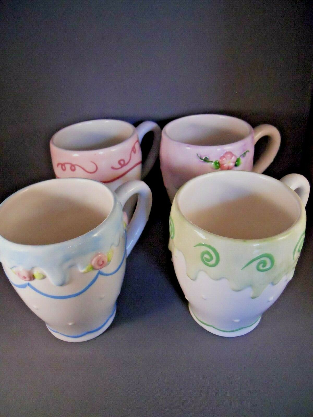 Details about Birthday Set of 4 Coffee Tea Mug Cup Ceramic
