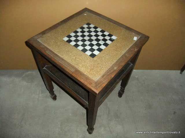 Tavolo Scacchiera ~ Mobili antichi → tavoli da gioco → antico tavolo scacchiera in