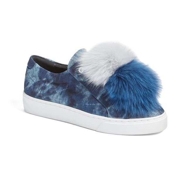 Here/Now Fur-Trimmed Slip-On Sneakers discount sale online OxmOXT