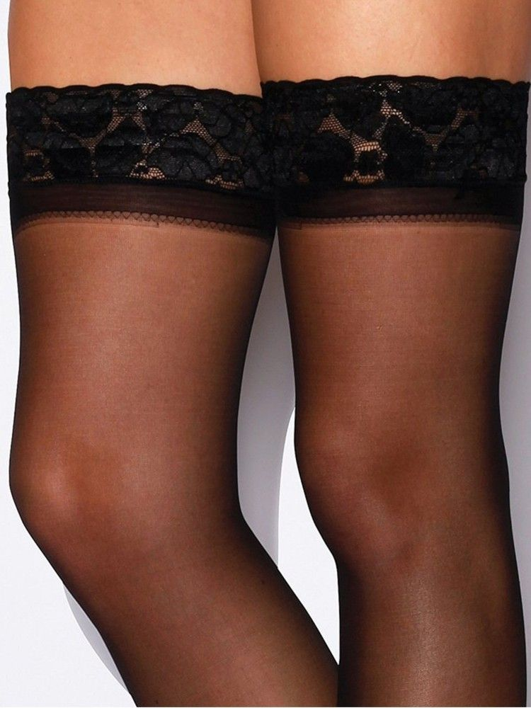 410f1dd1e8d Charnos 24 7 15 Denier Lace Top Hold Ups 2 Pair Pack