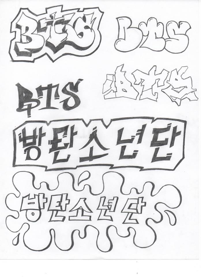 Bts Graffiti Graffiti Kpop Drawings Bts Fans Overlays Bts Hand Lettering