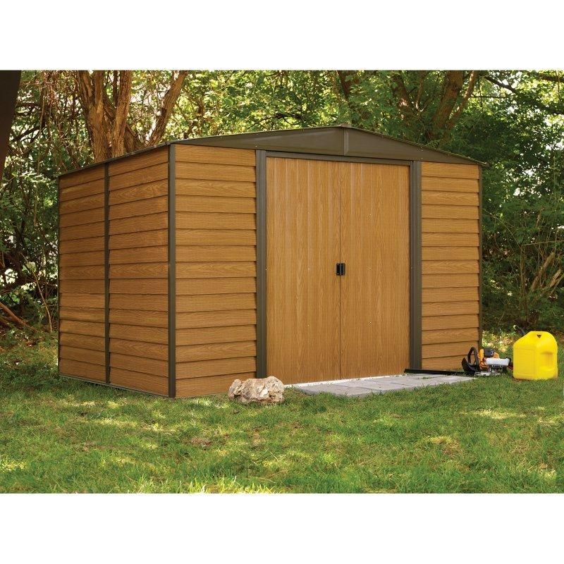 Arrow Shed Woodridge 10 X 6 Ft Steel Storage Shed Storage Sheds At Hayneedle Steel Storage Sheds Metal Storage Sheds Garden Storage Shed