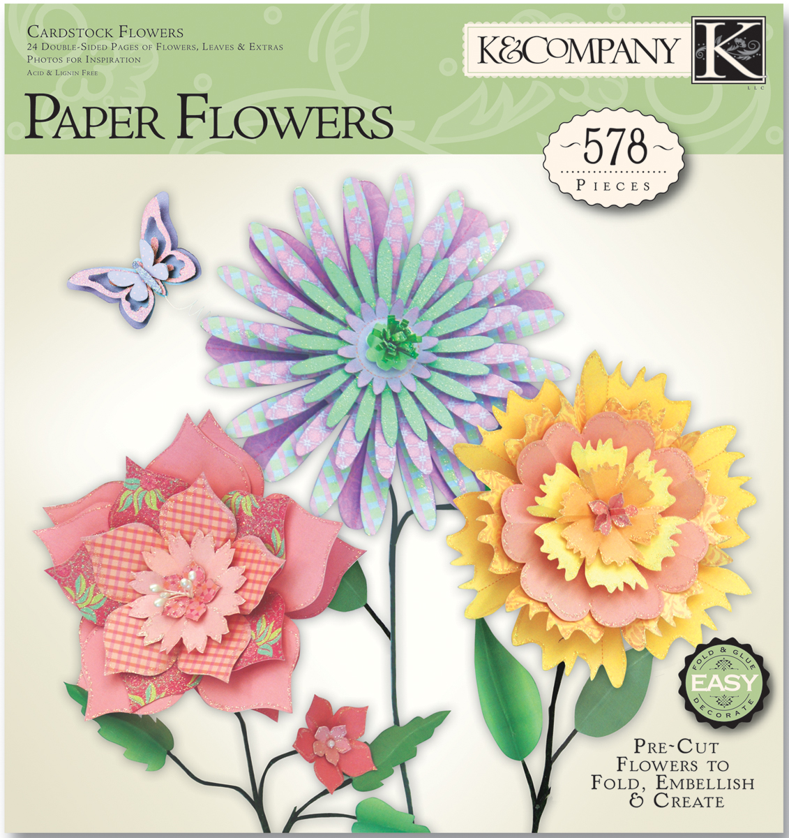 Cardstock Flowers Paper Crafting Pad 578 Pieces Diy Craft Kits