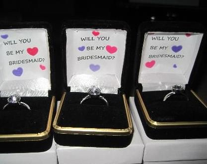 This is an adorable idea! But with their jewelry for the wedding instead
