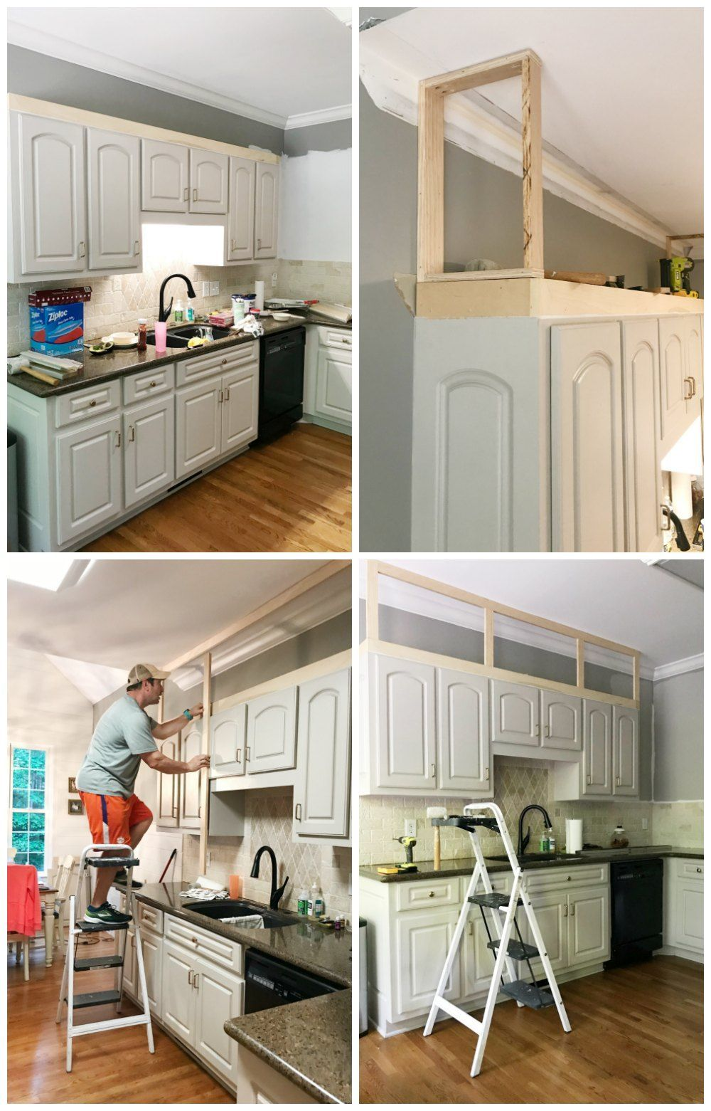 Kitchen Cabinet Facelift At Home With The Barkers Barkers Cabinet Diy Home Impro In 2020 Top Kitchen Cabinets Decor Kitchen Cabinet Remodel Above Kitchen Cabinets