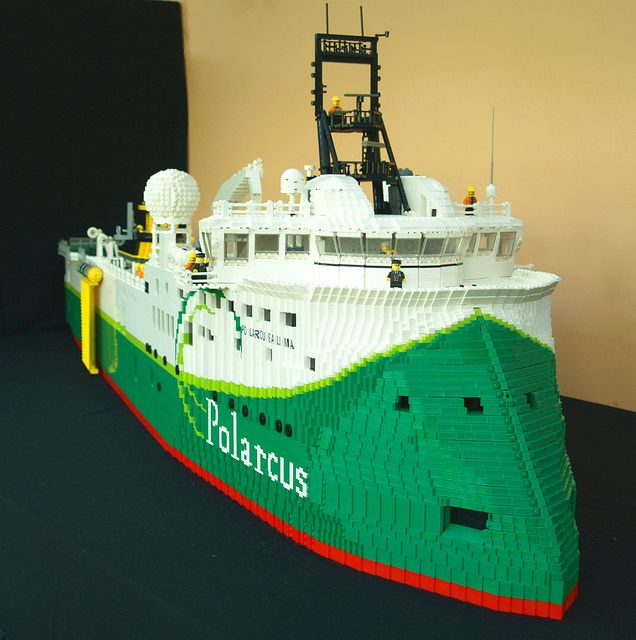 Polarcus Alima complete 1 by Lego Monster, via Flickr and The Brothers Brick