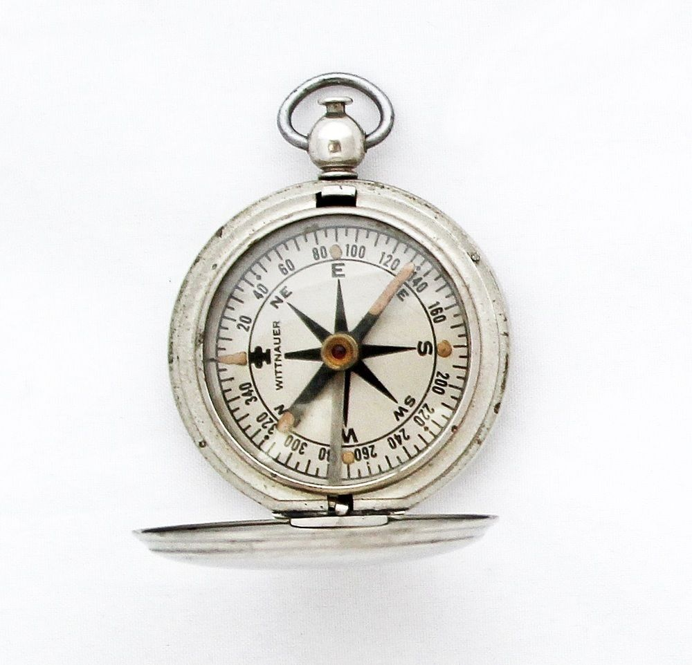 Original Wittnauer Longines Compass Vintage Wwii Compass Compass Pendant Vintage Compass Wittnauer