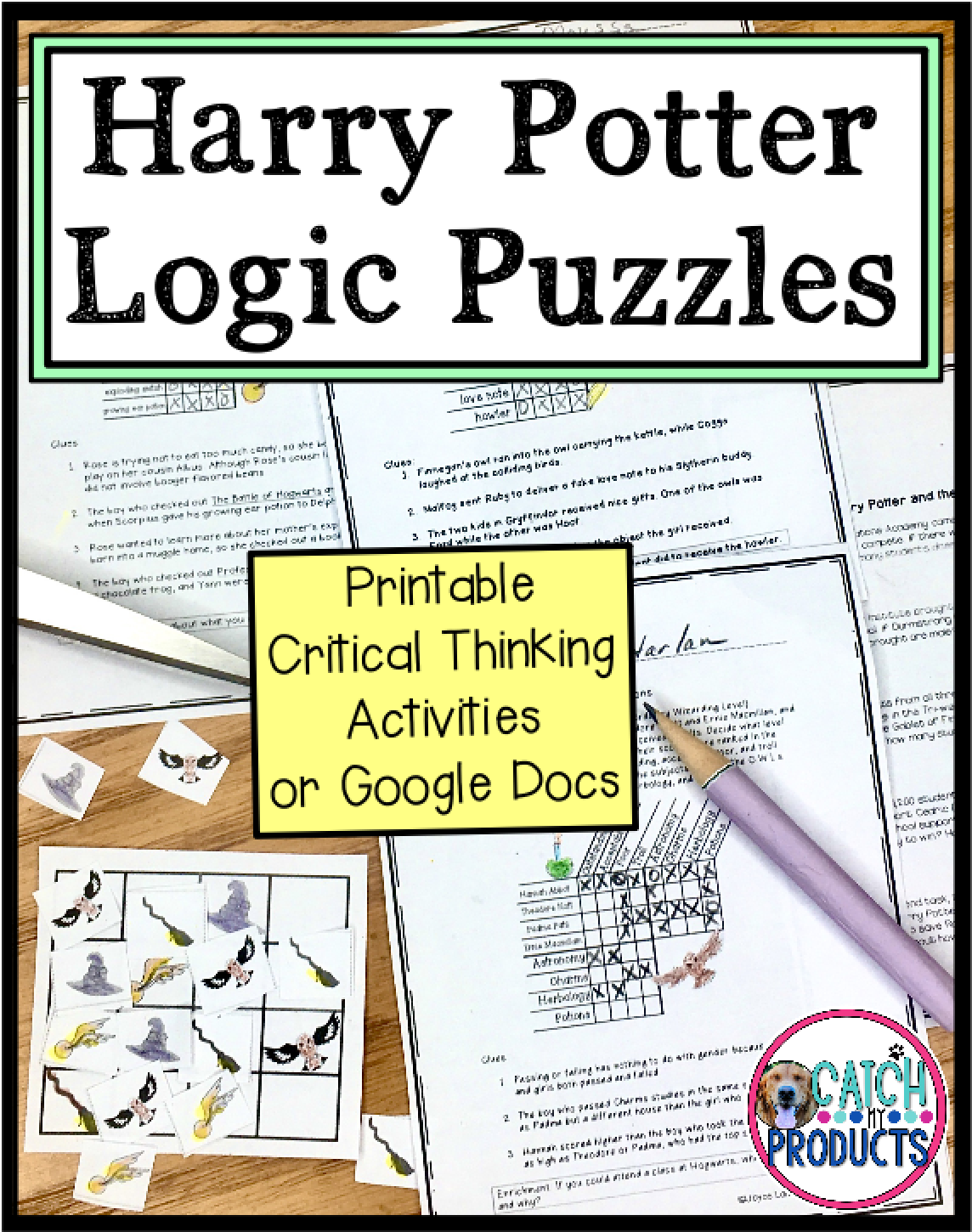 Harry Potter Logic Puzzles For Kids In