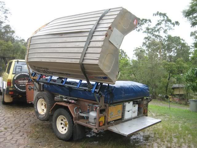 Image result for boat racks for camper trailers   Trailer ideas   Camper trailers, Camper, Camping
