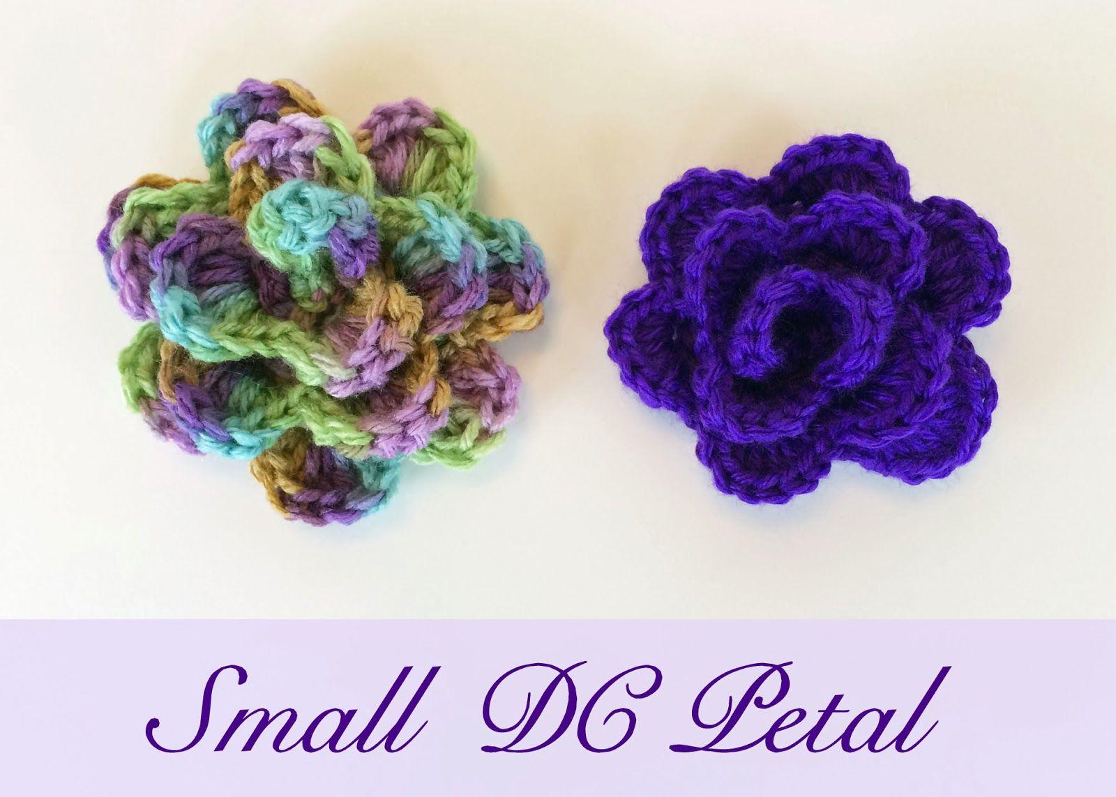 Small Petal Flower - #freepattern to #crochet this pretty little ...