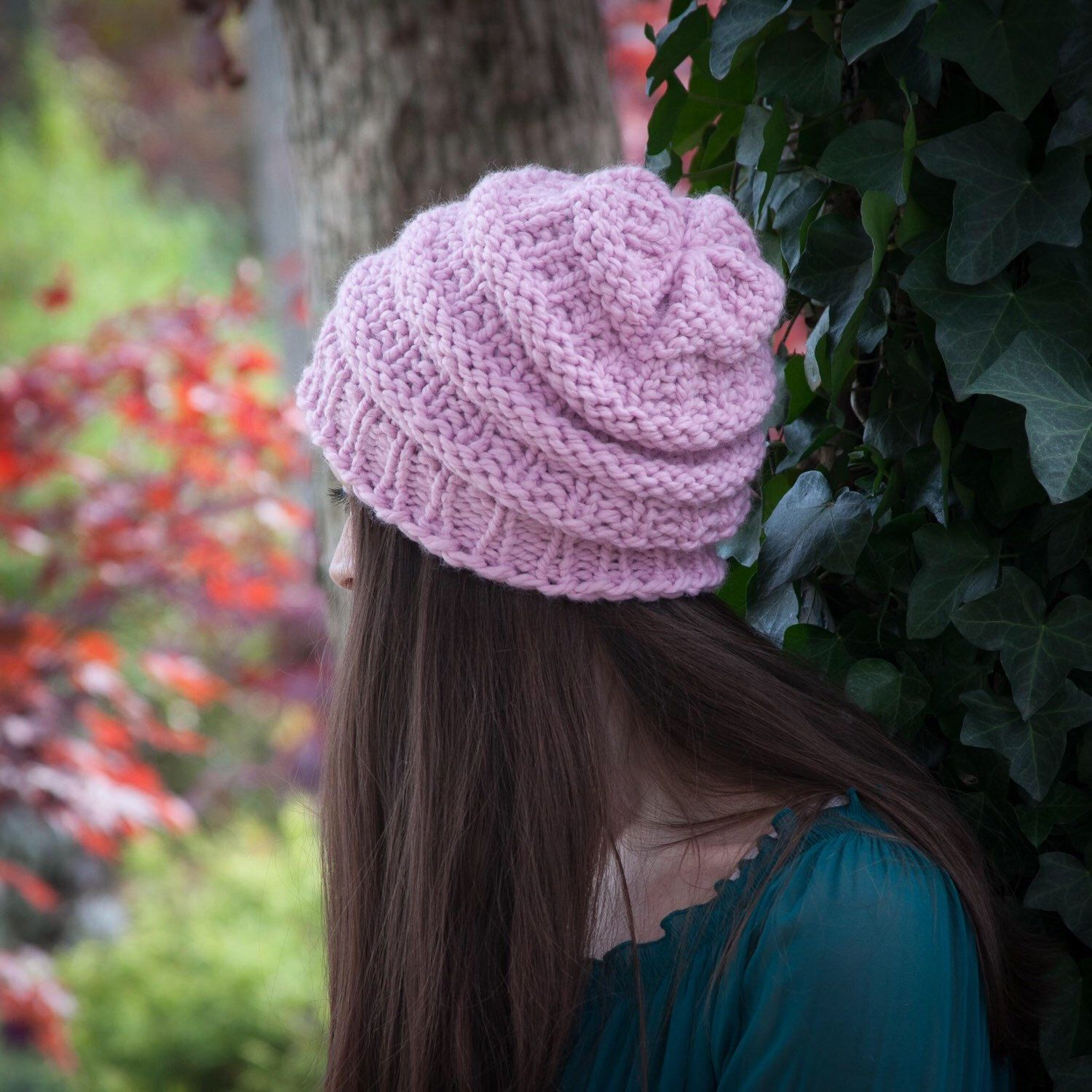 Just one of the loom knit hat patterns in this awesome collection ...