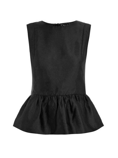 Raoul silk peplum top