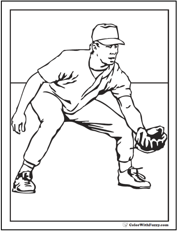 Baseball Coloring Pages Customize And Print Pdf Children S Color
