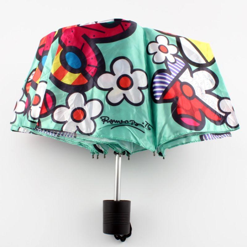 Romero Britto Umbrella Butterfly/Flowers - This designer umbrella will make a bright and brilliant gift! Designed by Romero Britto, you are sure to love its unique style even on those rainy days.