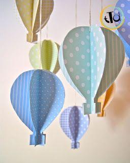 Per decorare la camera dei bambini hot air balloon baby shower for Decorare camera bambini