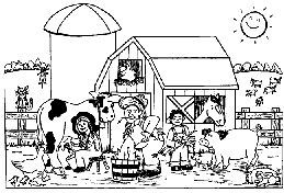 Kleurplaat Boerderij Farm Animal Coloring Pages Farm Coloring Pages Animal Coloring Pages