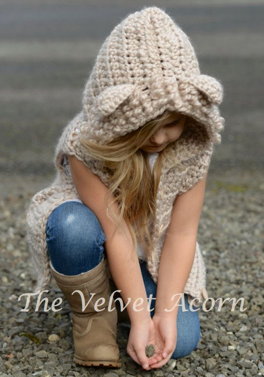 CROCHET PATTERN Lanstyn Lion Hooded Vest 2 3/4 by Thevelvetacorn ...