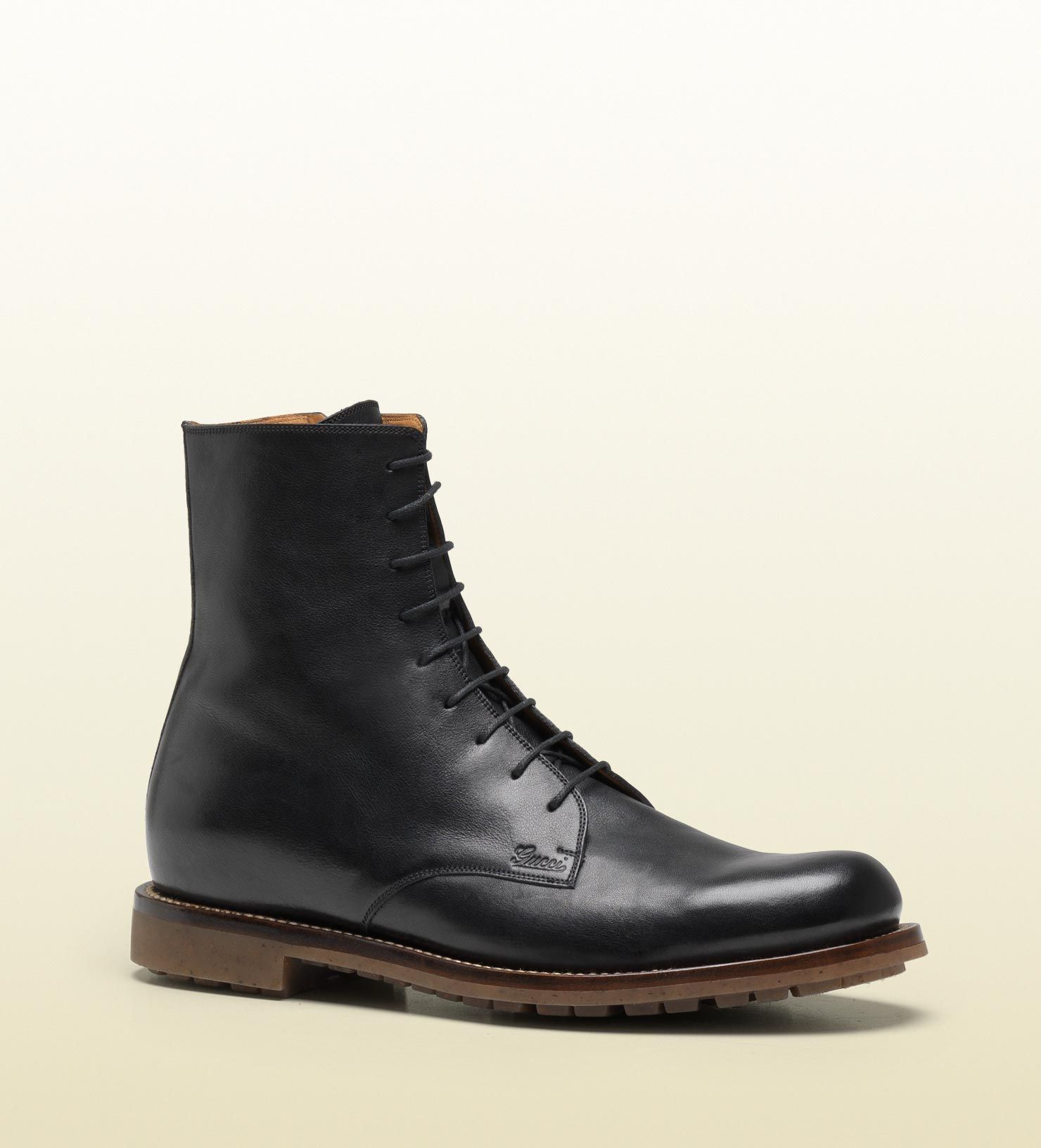lace-up military boot by Gucci... staples & other essentials | My ...