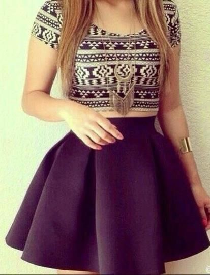 Cute two piece geometric dress | Geometric dress