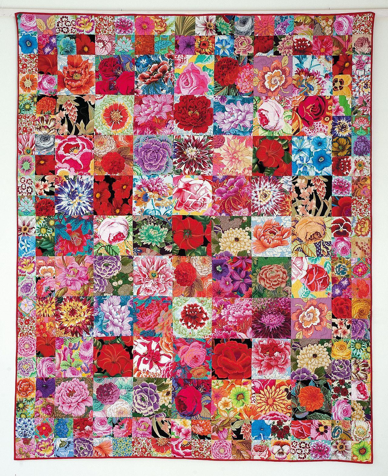 Seed Packet Quilt Kaffe Fassett Flower Quilts Kaffe Fassett Quilts Quilts