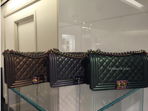 a43d56faa25c Chanel Boy Bags with Rainbow Hardware | bags | Bags, Chanel, Chanel ...