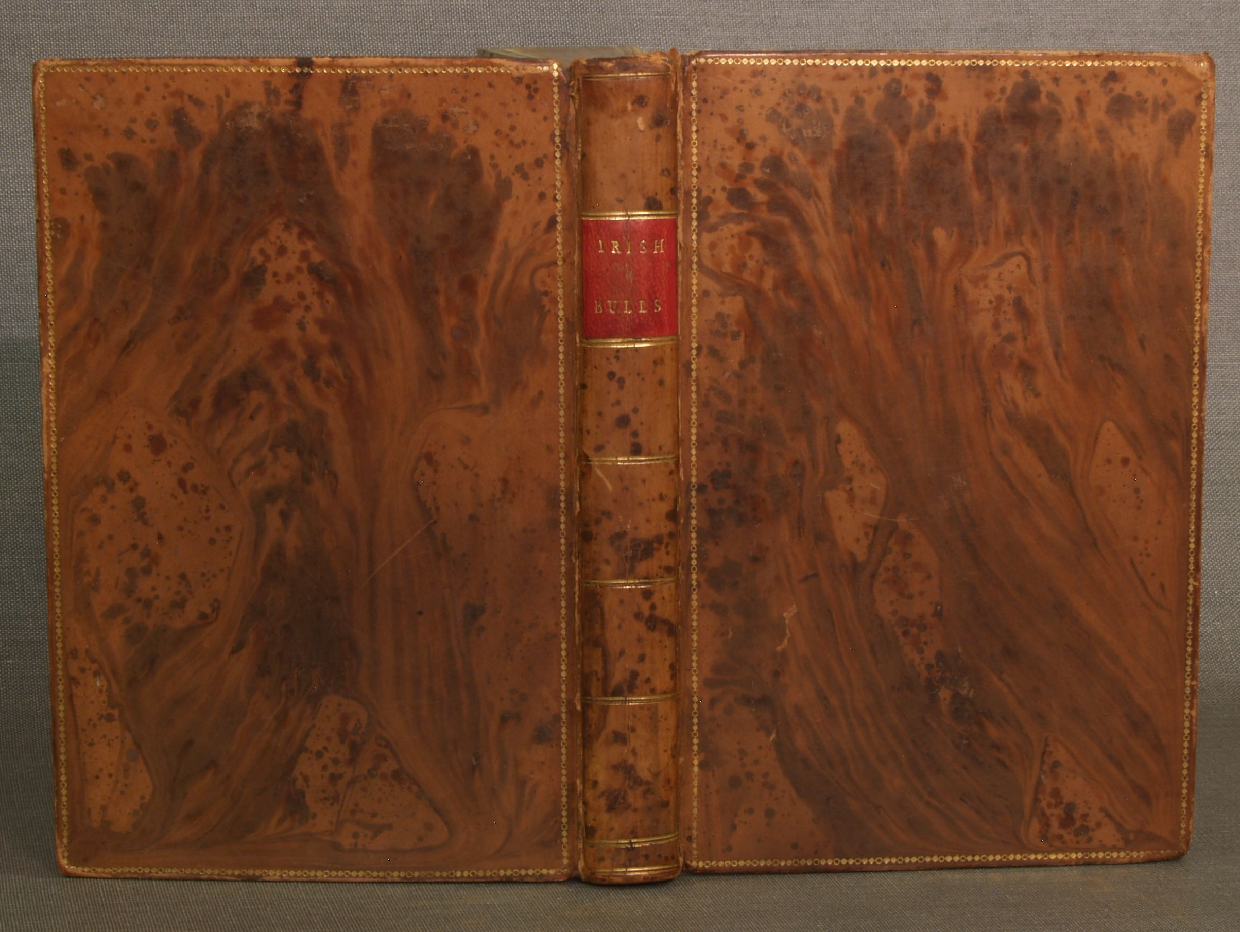 """Red Book Cover Pattern : Quot full leather """"tree calf binding the shape"""