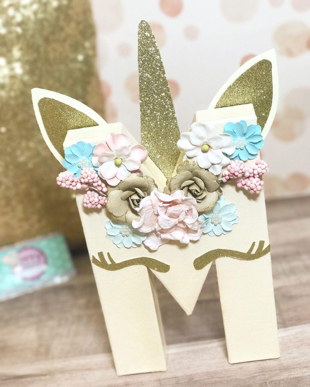 Unicorn initial Letters - Unicorn Birthday - Unicorn Decorations ...