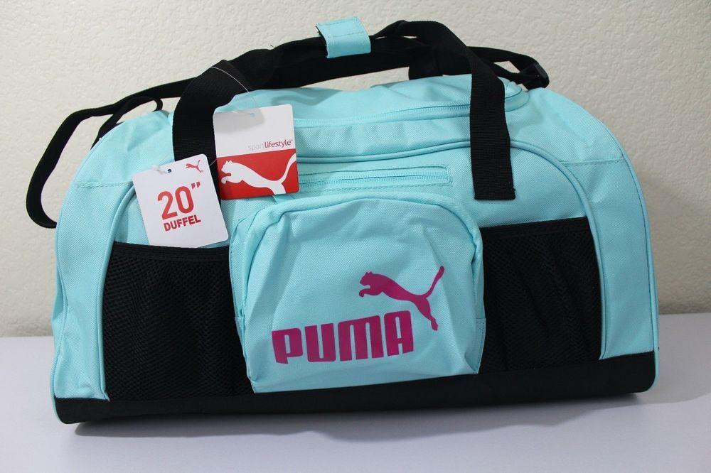 "NWT PUMA SPORT LIFESTYLE 20"" Turquoise Pink Black Accelerator Duffel Gym Bag   PUMA  ebay  PUMA  TurquoisePink  DuffelBag a5bf935547d50"