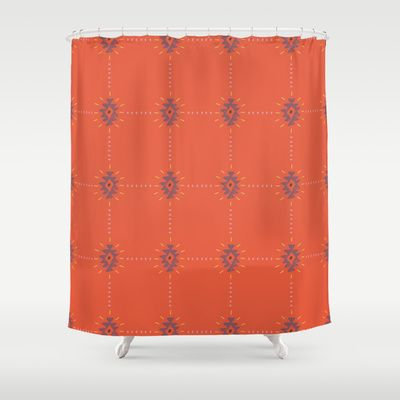 Mesa Skies Navajo Pattern Shower Curtain By Two If By Sea Studios