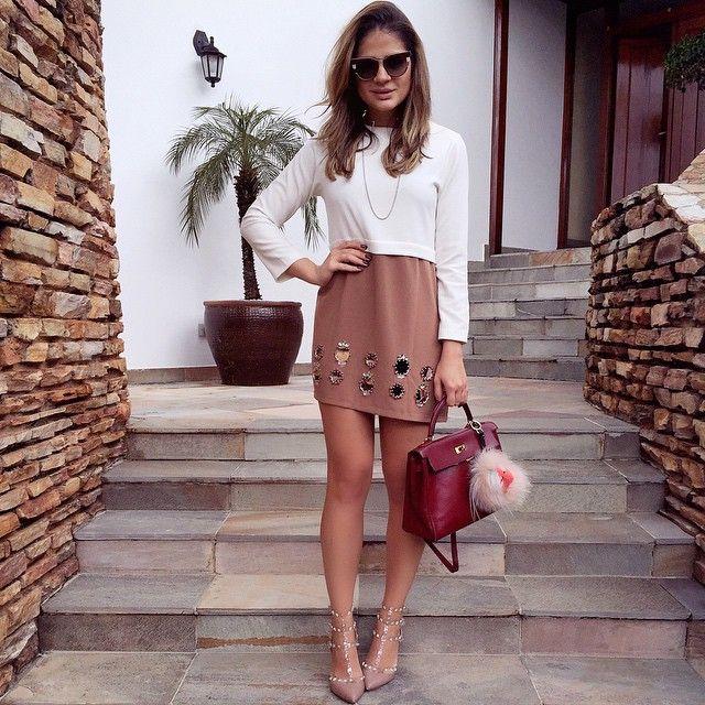 Todays! Amo esse vestido e não tiro do armário há tempos! ❤️ | #ootd #thassiastyle #lookoftheday #moodoftheday
