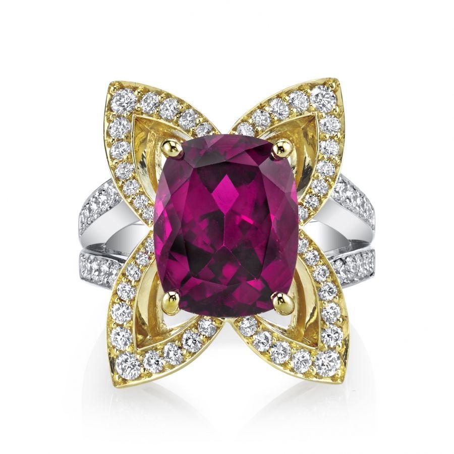 Omi Prive: Pink Tourmaline and Diamond Ring