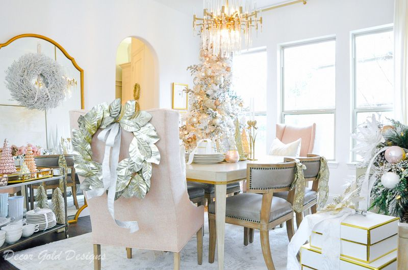 Christmas Dining Room Styled For The Season Home Tour