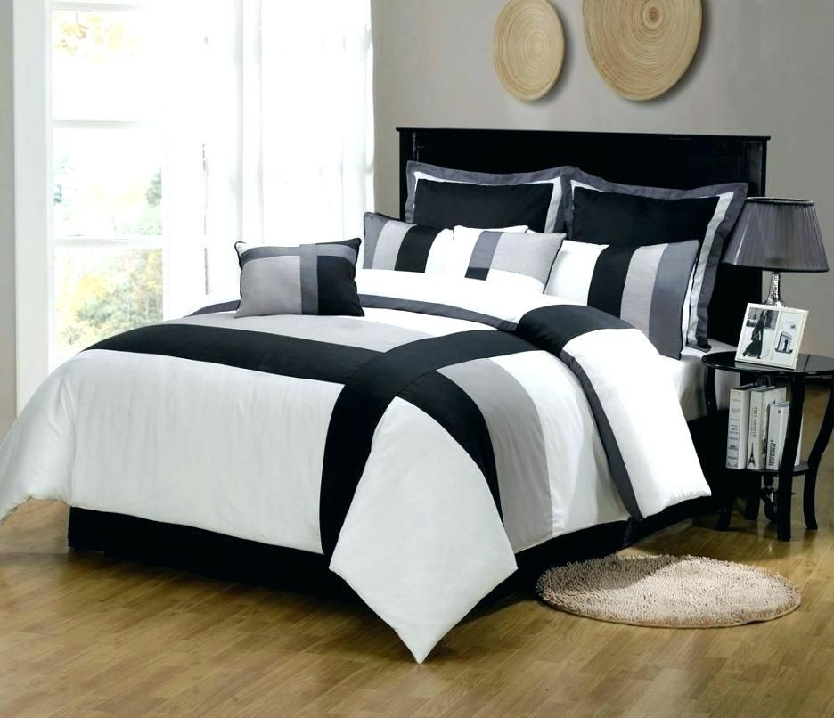 Courageous Black And White King Size Bedding Sets Ideas New Black And White King Size Bedding S White Bedroom Set Furniture Comforter Sets Grey Comforter Sets