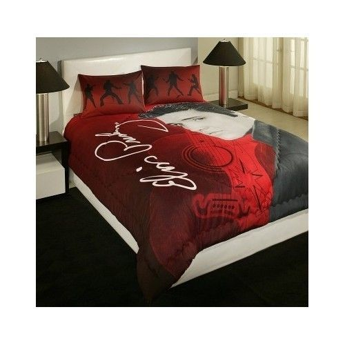 Elvis Presley Bedding Sets.Elvis Presley Blanket Bedding Queen Size Bed In A Bag Red