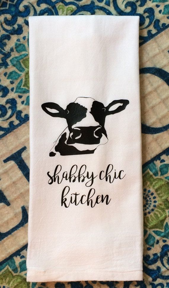 Farmhouse Shabby Chic Kitchen Flour Sack Dish Towel Christmas Gift By  TheFarmhouseShoppeCo