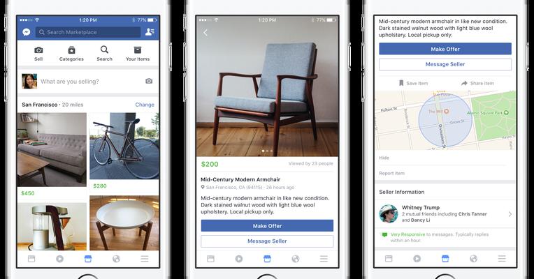 Facebook Launches Marketplace A Friendlier Craigslist Facebook App Marketing Marketplace