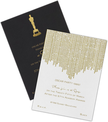 the oscars party invitations and the oscar goes to in 2018