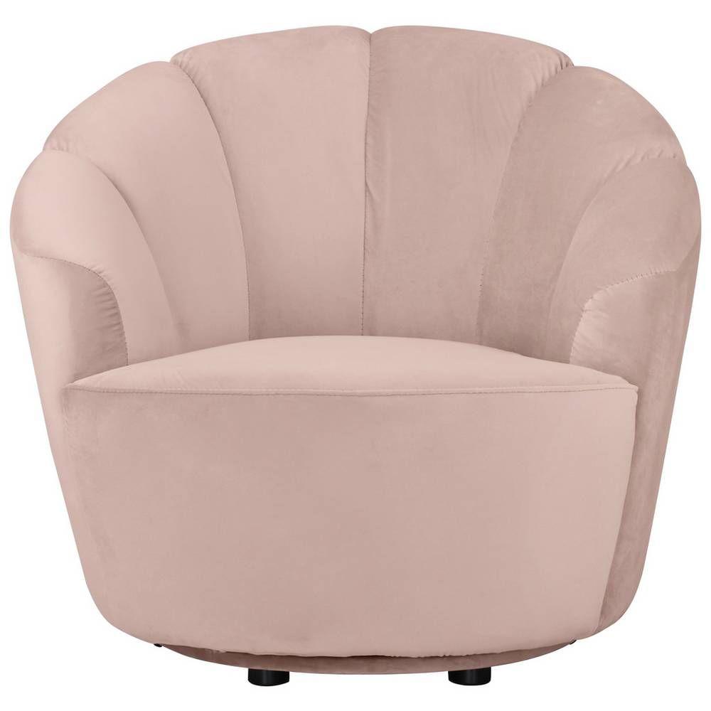 Buy argos home ezra velvet swivel chair blush pink