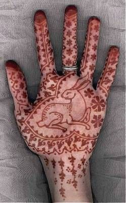beautiful henna bunny