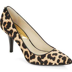 9a7f6c1ed934 Michael Michael Kors Flex Leopard-Print Calf Hair Mid-Pumps Women s Natural  8