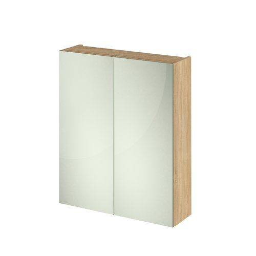 60 X 71cm Mirrored Wall Mounted Cabinet Hudson Reed Finish