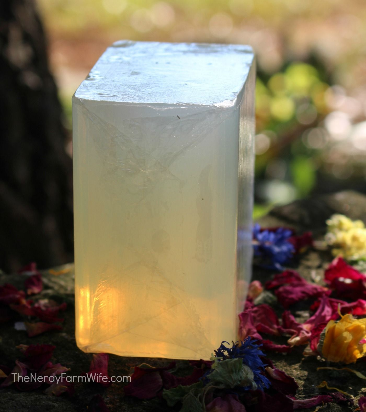 How to Make Herbal Soap Without Handling Lye {+recipe