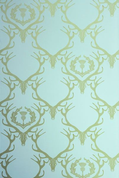 Deer Damask Wallpaper from Barneby Gates--Seedstore on Clement has a wall of this and it's lovely