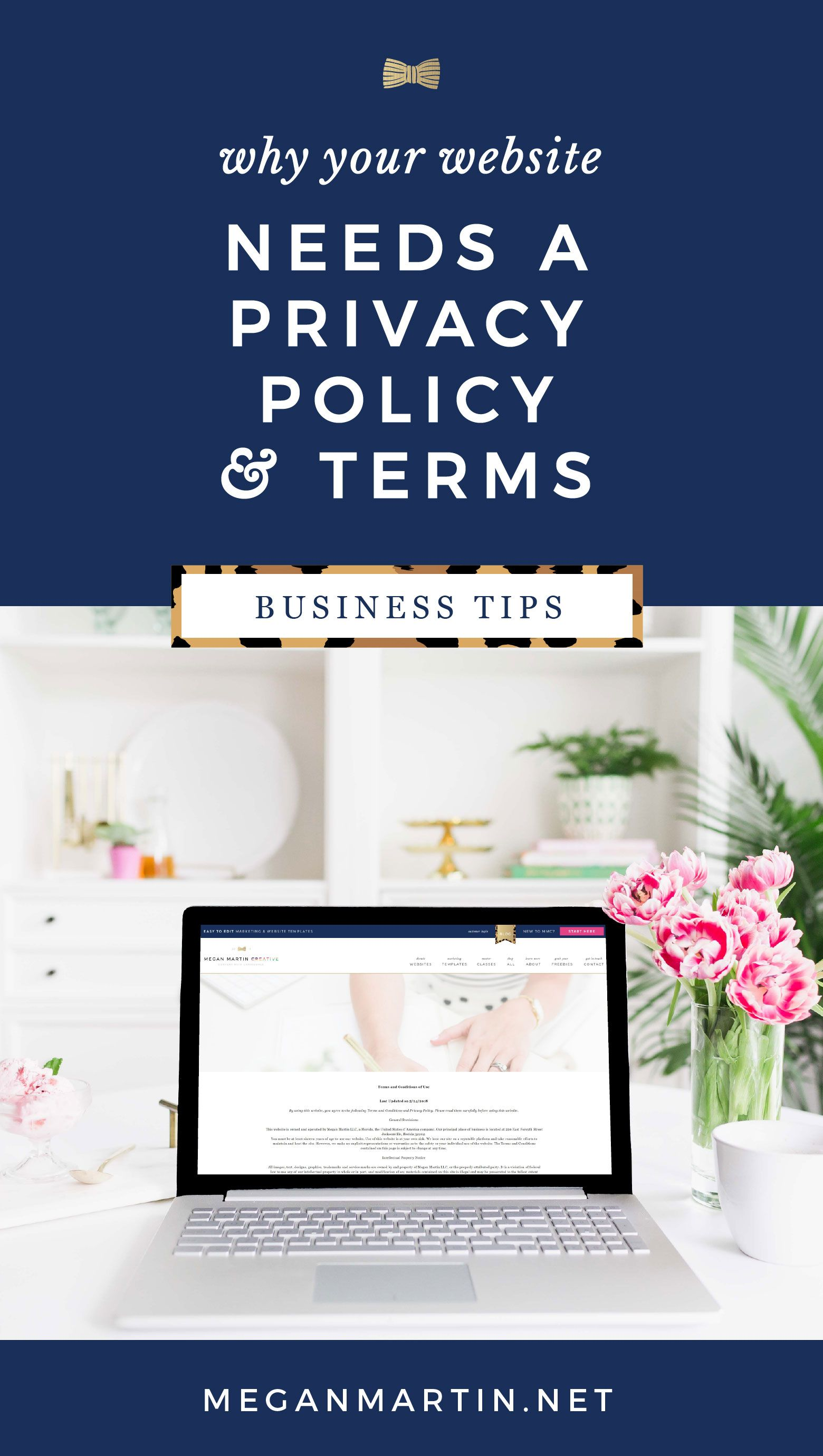 The One Page Your Website Needs To Be Legally Protected Megan Martin Creative Website Designer And Conversion Strategist Blog Legal Business Tips Creative Business