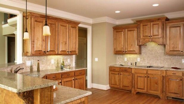 Picture of Kitchen Paint Colors with Oak Cabinets and Black