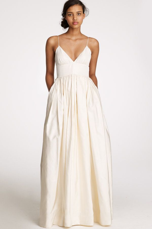 J. Crew Bridal- pocket dress; forget wedding, I would wear this all ...