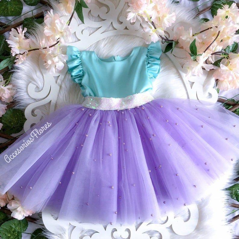 Ariel dress/ little mermaid dress /1st birthday outfit