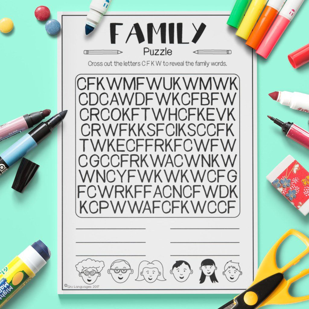 Family Letter Puzzle